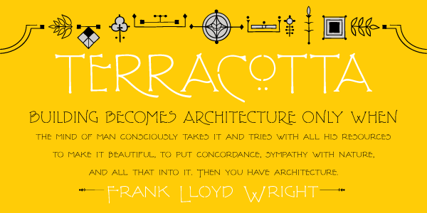 Family of 4 fonts from for Frank lloyd wright parents